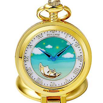 OUYAWEI P11 Himmel Muster mechanische Taschenuhren süße Tasche Fob Uhr Retro
