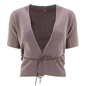 Peserico S99799f12a09234058 Women's Grey Cotton Cardigan