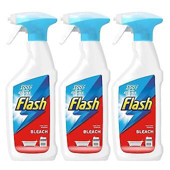 3 x 450ml Flash tisztító spray multi Minden célra konyhai tűzőszoba FÜRDŐSZOBA WC