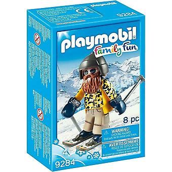 Playmobil Skier with Poles Action Figure Family Fun - 9284