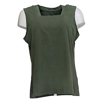 Denim & Co. Women's Top Essentials Square Neck Tank Green A379771