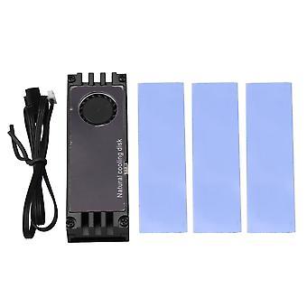 Temperatur Digital Display Kühlkörper für M.2 2280 SSD Festplatte Schwarz