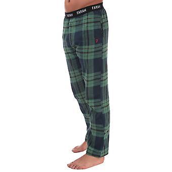 Men's Farah Venator Flannel Check Lounge Pants in Green