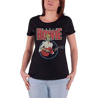 David Bowie T Shirt Acoustic Bootleg Logo nouveau officiel Femme Skinny Fit Black