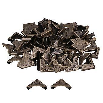 100 piezas elegante forma 25x4mm bronce hierro álbum borde protector de cubierta