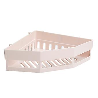 Free Punch Corner Shelf Fixed Corner Storage Shelf Beige
