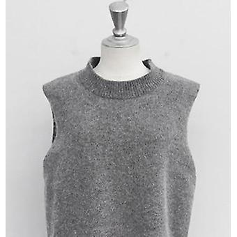 Rugod Vest New Autumn Women Vest Pretty Sleeveless O-neck Rabbit Hair Knitted