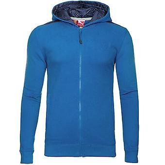 Puma Ferrari Shiled logo Hooded Mens Blue Zip Up Sweat Jacket 567084 04
