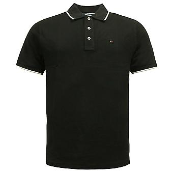 Tommy Hilfiger Golf Short Sleeved Plain Mens Polo Shirt Black TM416P-E 02 A80D