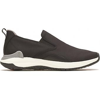 Hush Puppies Felix Slip On Mens Leather Trainers Noir