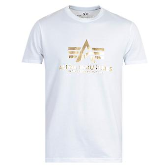 Alpha Industries Foil Print T-Shirt - White