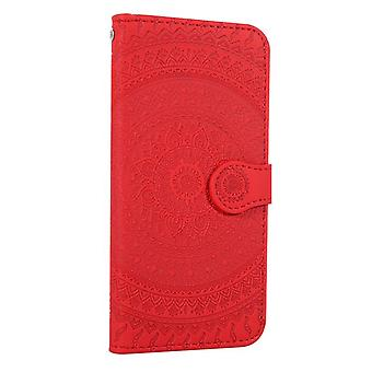 Apple iPhone XR Flower Flip -kotelon kansi - punainen