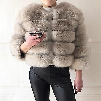 Leather Fox Fur Coat