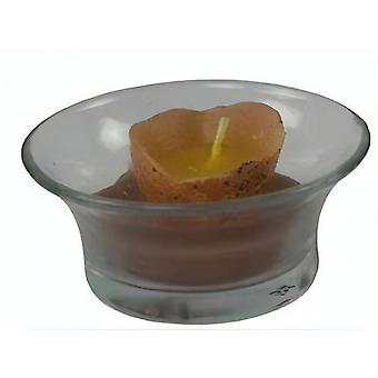 Waxine Light Holder With Candle Egg 6.5 X3 Cm