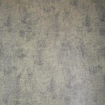 Distressed Foil Black Wallpaper