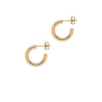 The Hoop Station La NAPOLI Gold Plated 18 Mm Hoop Earrings H126Y
