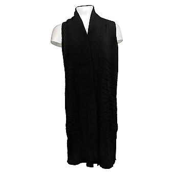 Isaac Mizrahi Live! Shawl Collar Long Vest with Stitch Detail A384083