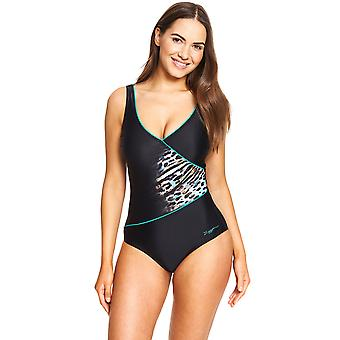 Zoggs Skin Deep Wrap Front Swimsuit