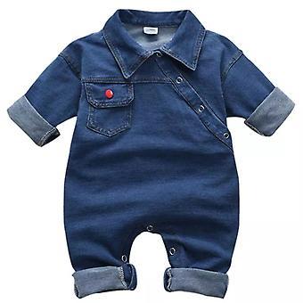 Toddler Baby Cu mânecă lungă Denim Romper One Pieces