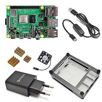 Kit de placa de desenvolvimento Pi 4 Modelo B 8gb/2gb/4gb com linha de interruptor de energia tipo-c
