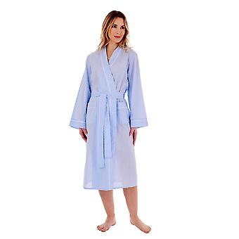 Slenderella HC77235 Women's Spotted Cotton Dressing Gown
