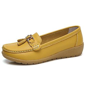 Breathable Genuine Leather Flats Loafer