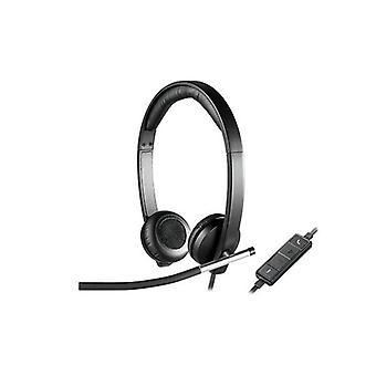 Logitech H650E Wired Headset Stereo With Noise Canceling Microphone