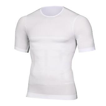 الرجال التخسيس المشكل الموقف سترة قميص مشد