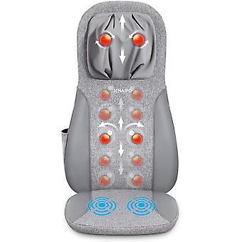 Naipo Massagematte mit vollem Rcken und Heat-Massagestuhl fr Nacken- und Hfthften,