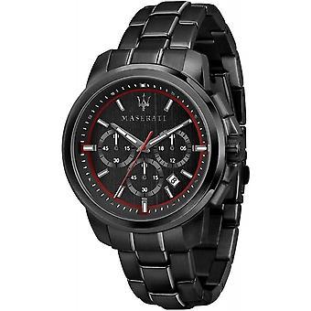 Maserati R8873621014 Montre-bracelet noire Successo Chronograph