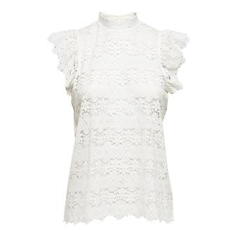Mujeres encaje top JDYBLOND camisa manga corta camisa de verano diseño de patrón de blusa