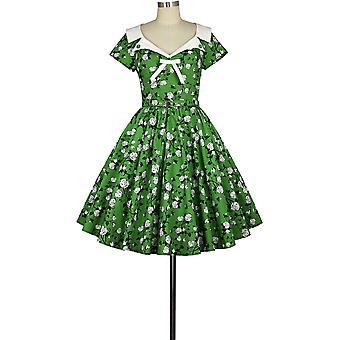 Chic Star Retro 1950s Vestido en verde / floral