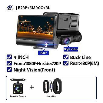 bil kameraer linse, dash dobbel suppor, bakspeiling, videoopptaker, auto registrator,