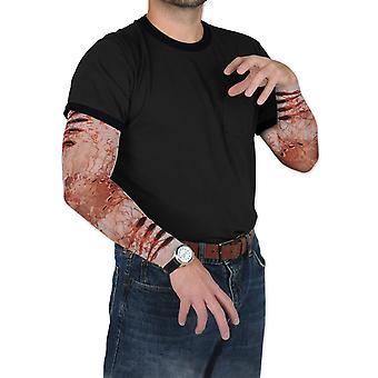 Nep zombie wonden mouwen