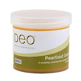 DEO Pearlised Gold Depilatory Wax Lotion for Premium Waxing - 425g