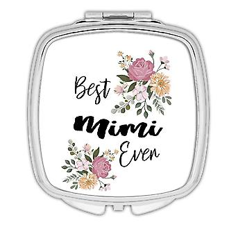 Gift Compact Mirror: Best MIMI Ever Flowers