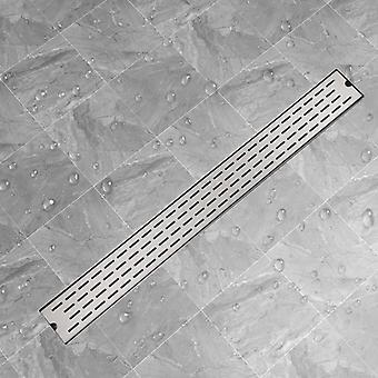 vidaXL خطوط قناة دش مستقيم 1030x140 مم الفولاذ المقاوم للصدأ