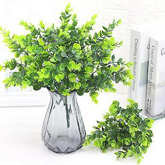 5Pcs人工植物ユーカリ葉プラスチック偽の緑の植物は、女性のための贈り物