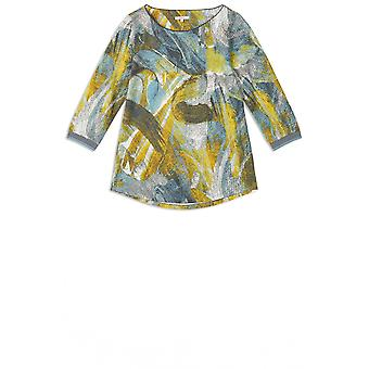 Sandwich Clothing Blue Shadow Patterned Top