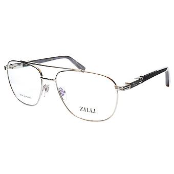 ZILLI glasögon Ram Titanacetat Silver Svart Frankrike Tillverkad ZI 60022 C07