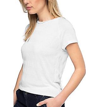 edc av Esprit 046CC1K014-öppen Rygg T-Shirt, Vit (Vit 100), L (Storlek Tillverkare: XL) Kvinna