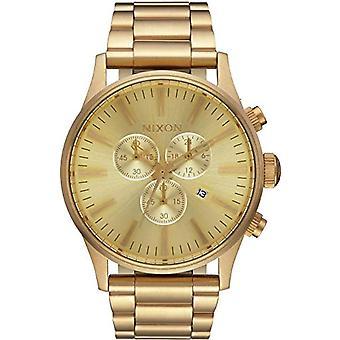 Nixon Cron Reloj Gráfico Hombre de Cuarzo con correa chapada de acero inoxidable A386502-00