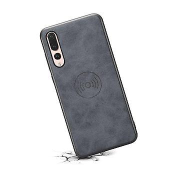 حقيبة جلدية مع فتحة بطاقة المحفظة ل iPhoneX / XS رمادي رجعي