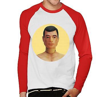 Action Man Character Head Men's Baseball Long Sleeved T-Shirt