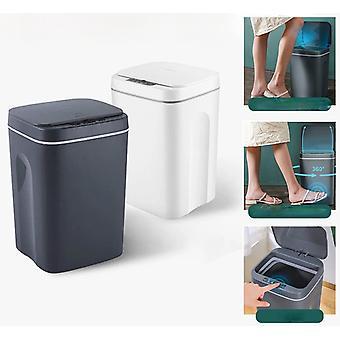Trash Can Home Automatic Sensor Dustbin Smart Sensor Electric Waste Bin Rubbish Can For Kitchen Bathroom Garbage 16L/12L Intelligent