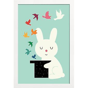 JUNIQE Print - Magic Of Peace - Plantskola & Konst för barn Affisch i Färg & Grönt