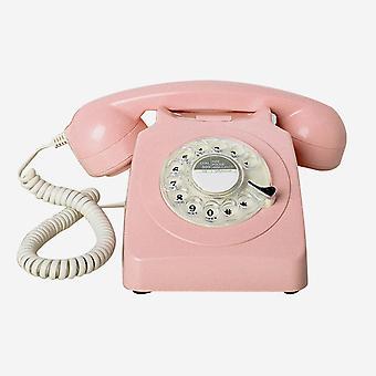 レトロアンティーク電話コード付き固定電話ホームフォン