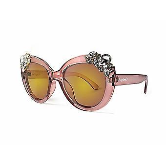 Ruby rocks ladies dubai gem detail sunglasses in crystal pink