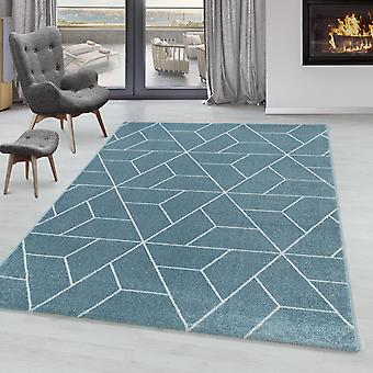 Sala de estar Carpet POWER Short Pile Soft Design Geometric Pattern Lines