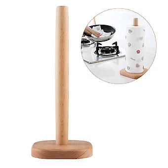 Paper Towel Stand Kitchen Wooden Roll Paper Towel Holder Bathroom Tissue Toilet Paper Stand Napkins Rack Home Table Accessories